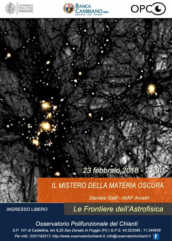 Frontiere dell'Astrofisica: conferenza sulla materia oscura @ Osservatorio Polifunzionale del Chianti | Barberino Val d'Elsa | Toscana | Italy
