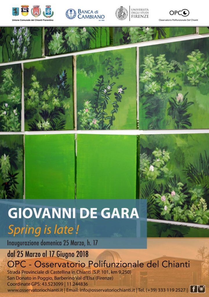 Giovanni De Gara  |  Spring is late! @ Osservatorio Polifunzionale del Chianti | Barberino Val d'Elsa | Toscana | Italy