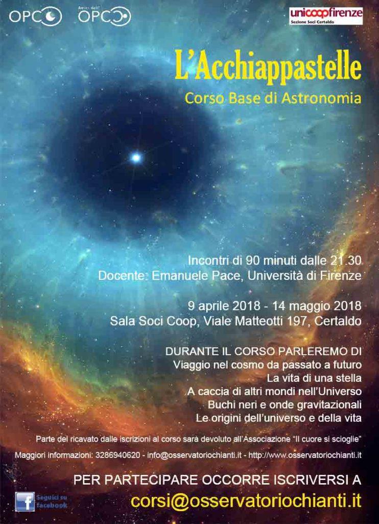 L'Acchiappastelle - Corso base di astronomia @ Sala Soci COOP di Certaldo | Certaldo | Toscana | Italy